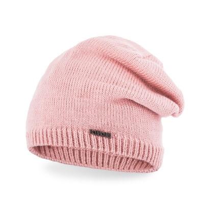 Różowa czapka damska
