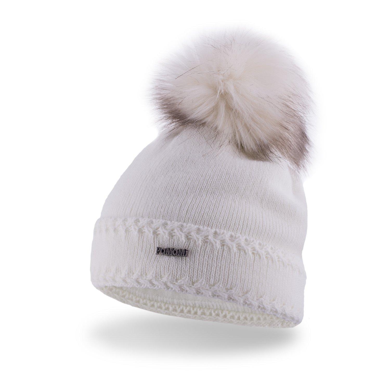 ... Double roll women s winter hat ... 3f1fe3ff409