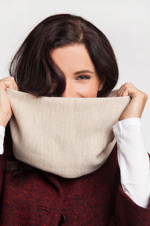 Women's tube scarf White   Women \ Tube scarves