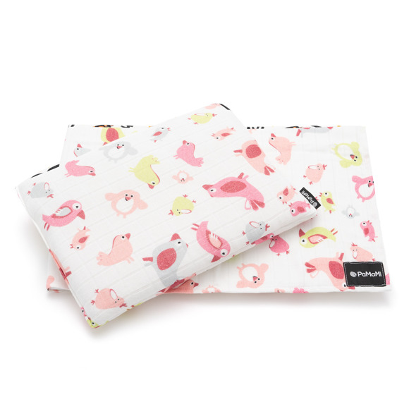 Bamboo muslin swaddle and pillow