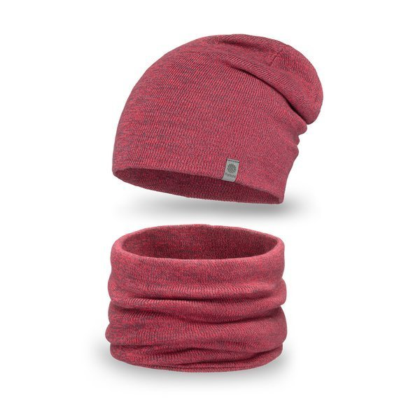 Cotton set - hat and tubescarf