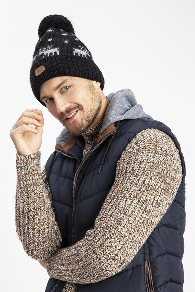 Double roll men's winter hat