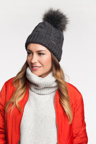 Double roll women's winter hat