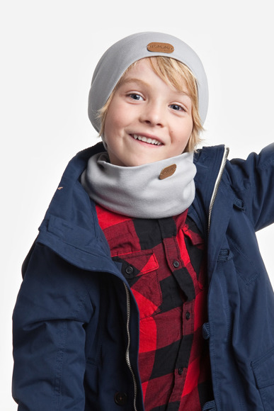 Kids spring set - beanie hat and tube scarf