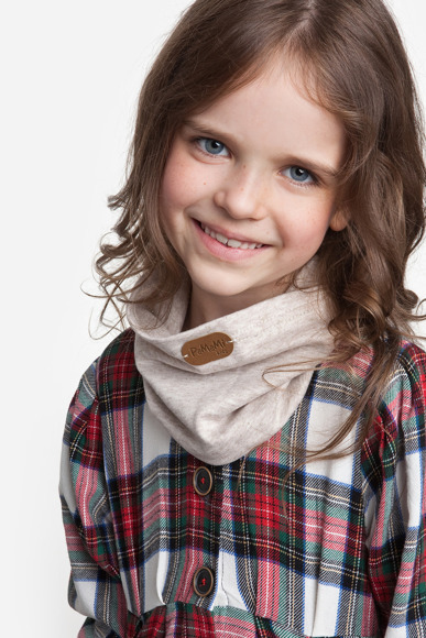 Light grey girls' tube scarf