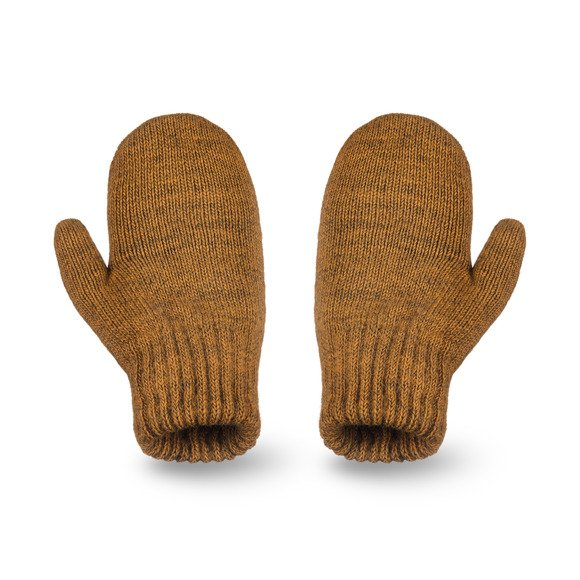 Mustard melange gloves