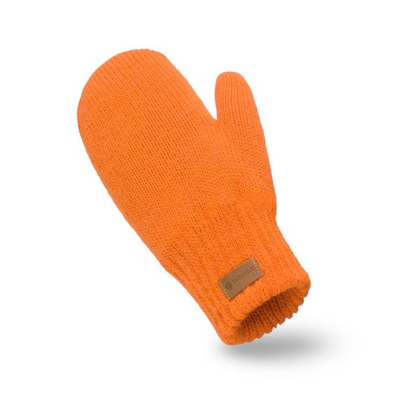 Orange womens' gloves