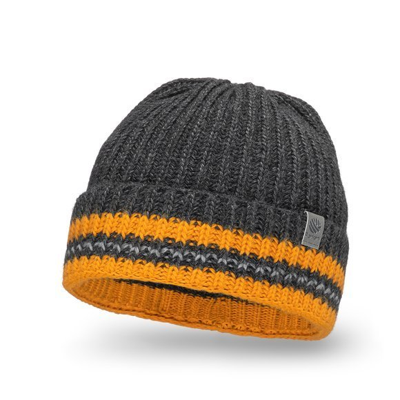 Rolled men's hat with stripes