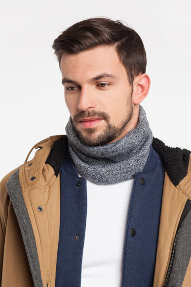 Trendy men's tube scarf