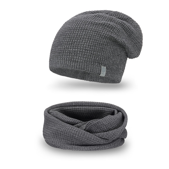 Winter men's set- hat and tube scarve