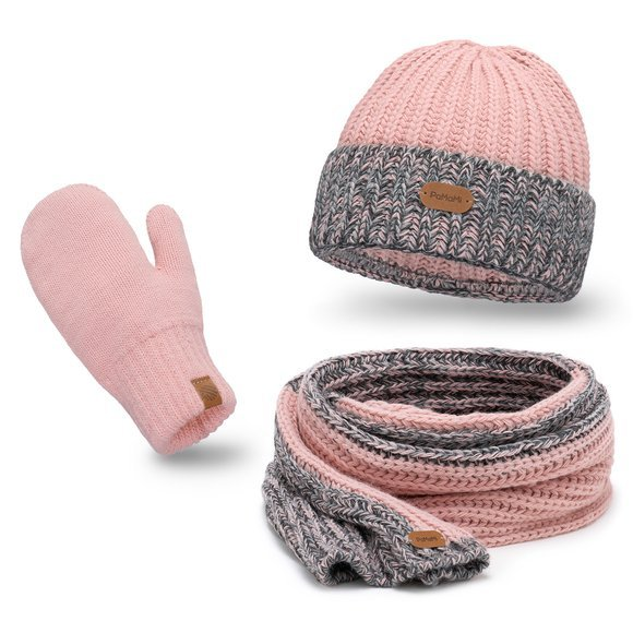 Women's Winter set hat, scarf, gloves