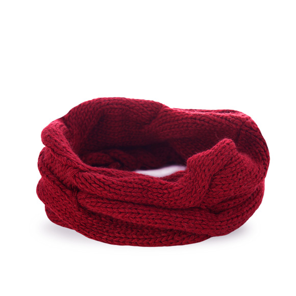 Women's winter tube scarf
