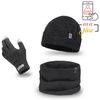 Men's set hat, scarf, gloves